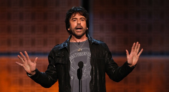 Greg Giraldo Comedian Greg Giraldo onstage at the The Comedy Central Roast Of Joan Rivers held at CBS Studios on July 26, 2009 in Studio City, California