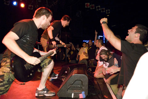 Strife bring hardcore back to the strip with their first show in six years to remind the Roxy crowd what it's all about.