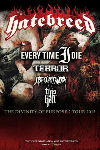 hatebreed the divinity of purpose 2 tour 2013