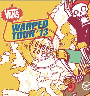 warped tour europe 2013