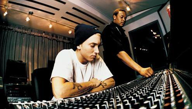 Dr. Dre and eminem 2013