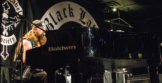 Zakk Wylde on the keys at The Iridium.