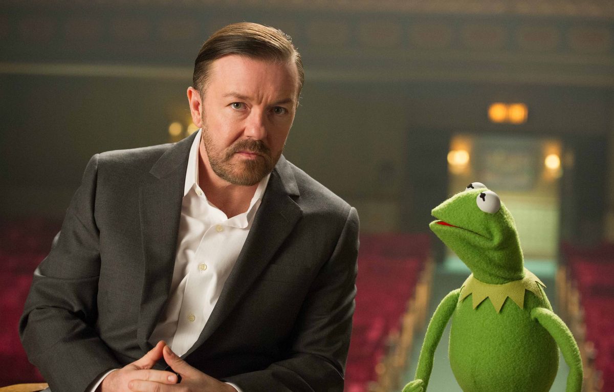Ricky Gervais and Kermit