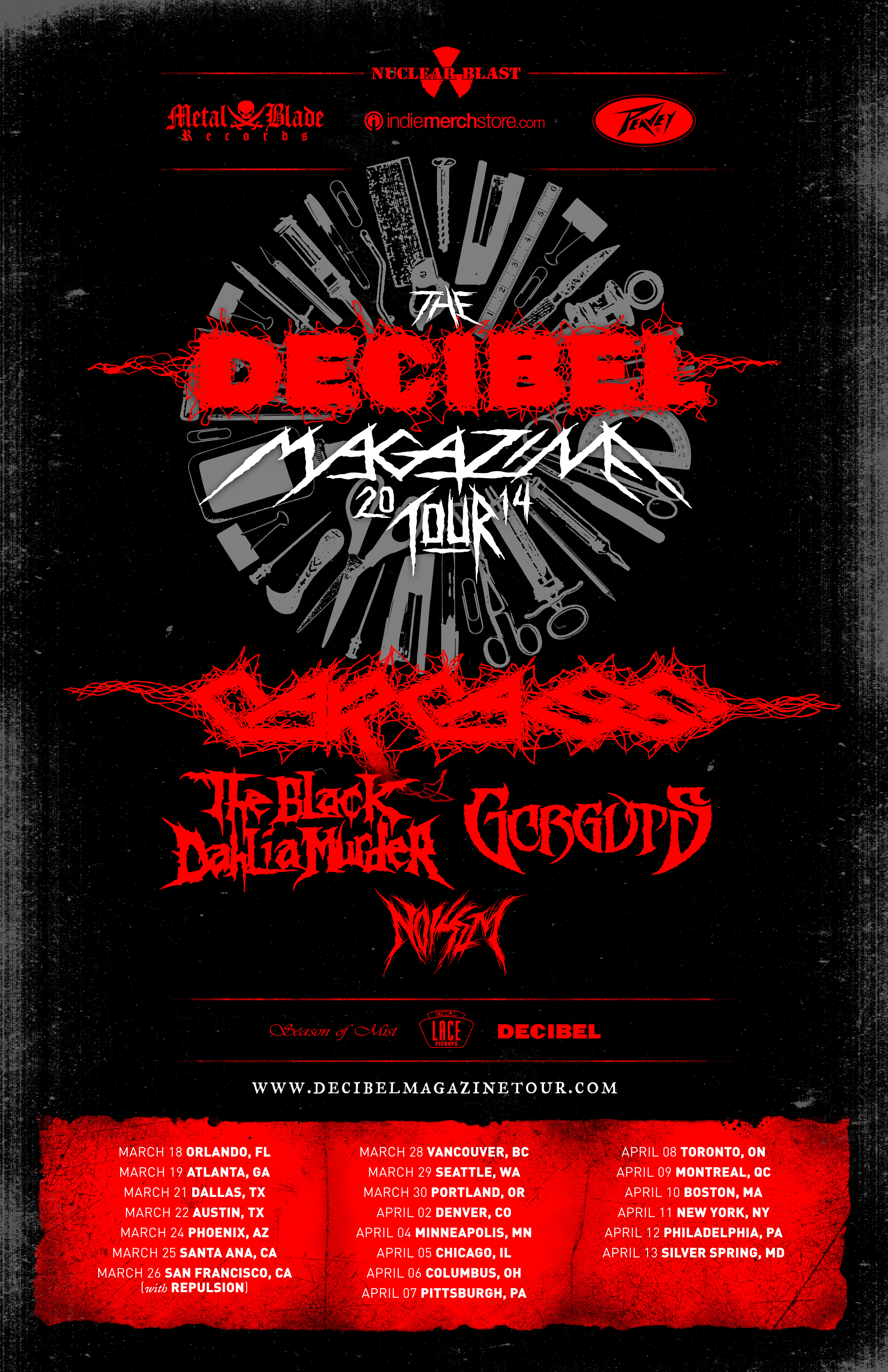 decibel magazine tour