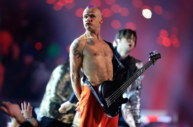Red Hot Chili Peppers Flea Superbowl 2014