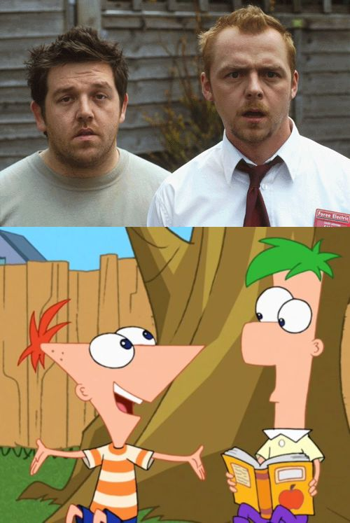 shaun of the dead phinead and ferb
