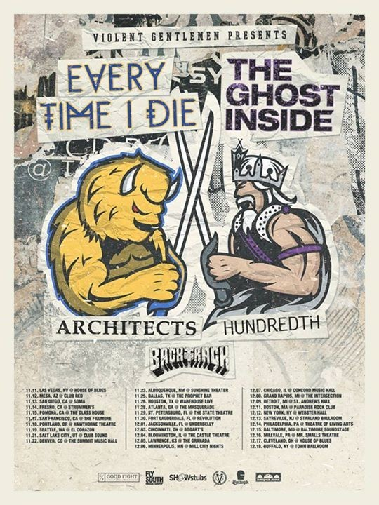 Every Time I Die:The Ghost Inside Tour Poster