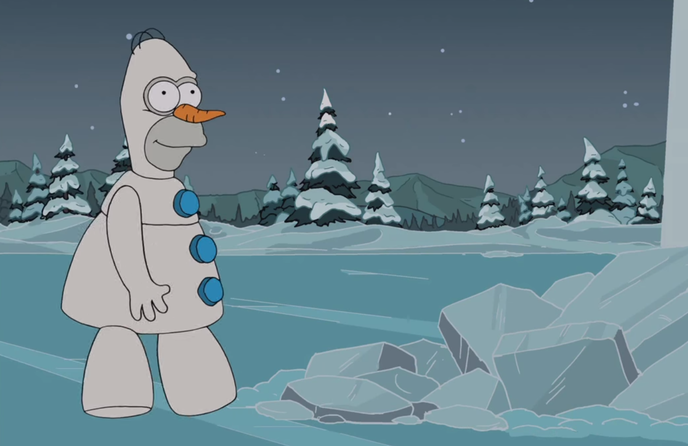The-Simpsons-Homer-Olaf-Frozen